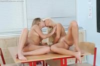 Lesbians sweet kisses