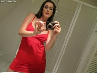 Amateur Georga sexy in her red dress