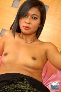 Tamika in black net stockings