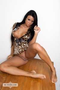 Sexy Ashley teasing her pussy on the floor