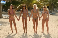 3 hot babes on the beach