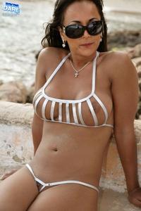 Sexy bikini babe Leona