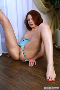 Amateur and young red babe Anna