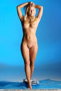 Sharon posing totally naked