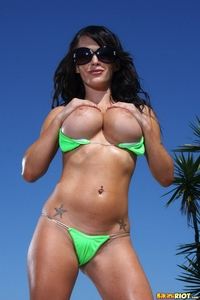 Super hot Jamine in neon bikini