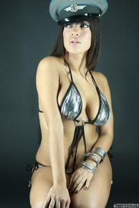 Silver bikini babe