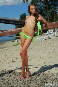 Erina on the beach