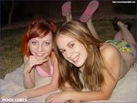 Teen pool friends