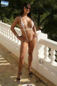 White thong bikini babe