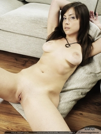 Angelina - On the office couch