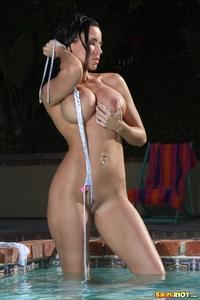 White & Silver Zebra Thong Bikini
