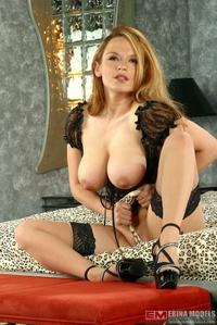Horny slut's suckable titties