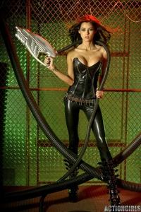Sexy redlaser girl from planet Venus