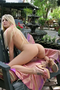 Horny bitch ass in the garden