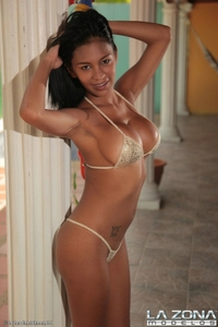Hot latina was in tight bikini