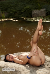 Hot asian virgin by the lake