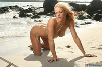 Hot babe Jess on the beach