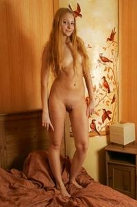 Sexy virgin Sabina's tempting body