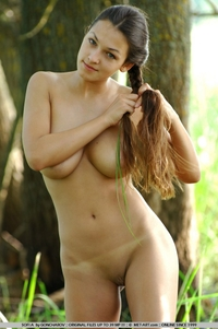 Hot Sofia naked in the swamp