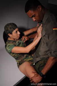 Anal interrogation in army style