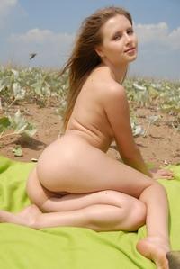 Young schoolgirl bending outdoor