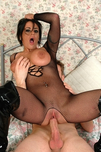 Big titted bitch gets fucked hard