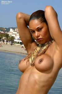 Naughty latina's bikini