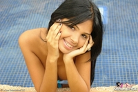 Latin schoolgirl in the pool