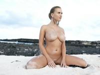 Busty Cikita's huge natural boobies