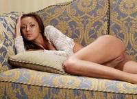 Sexy Princess Anna S on the sofa