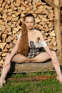 Teen Virginia Sun posing