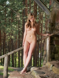 Tempting Sandy C strips in the forest