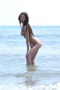 Hot Stasha naked on the beach