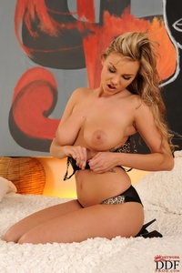 Busty Marie Lambo's natural boobies