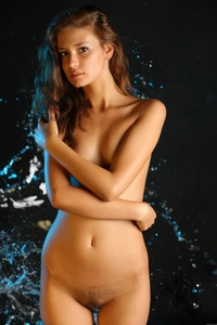 Gorgeous Irina posing in the studio