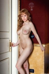 Busty blonde Beatrix big natural tits