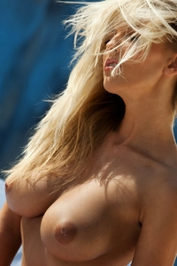 Busty blonde Chikita natural boobies