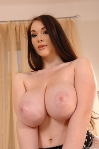 Busty Anna Song's huge natural tits
