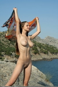 Amateur schoolbabe naked on vacation