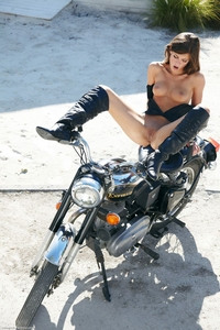 Beautiful bike babe Caprice