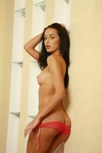 Tempting Olga Puma teasing naked