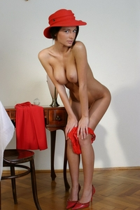 Busty Claudia's perfect big boobies