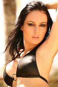 Hot Steffi's tiny black bikini