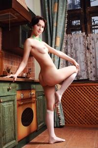 Cheeky Jillian teasing naked at home