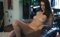 Tattooed cutie Chad naked in the lounge