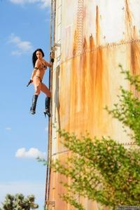 Wild gun girl Rosia gets crazy