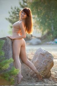 Amateur exgirl Liina posing outdoor