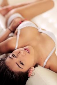 Cute young Megan Salinas posing