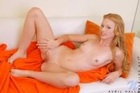 Cheeky Avril playing naughty