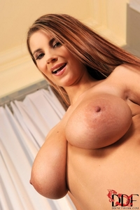 Busty Katarina's huge natural boobies